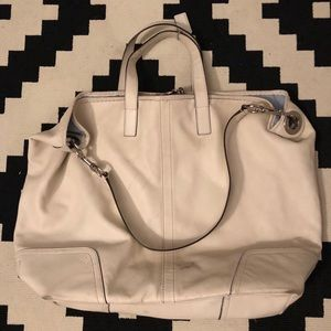 Coach large leather shoulder or crossbody